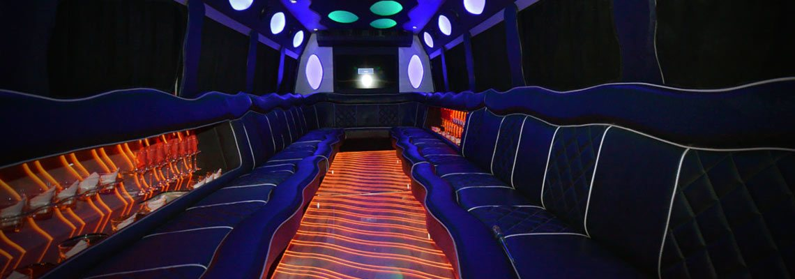 A VIP limo bus for your special night out in Miami!
